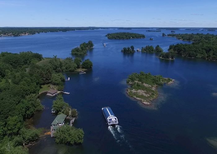 Cruising in the Thousand Islands, near Kingston