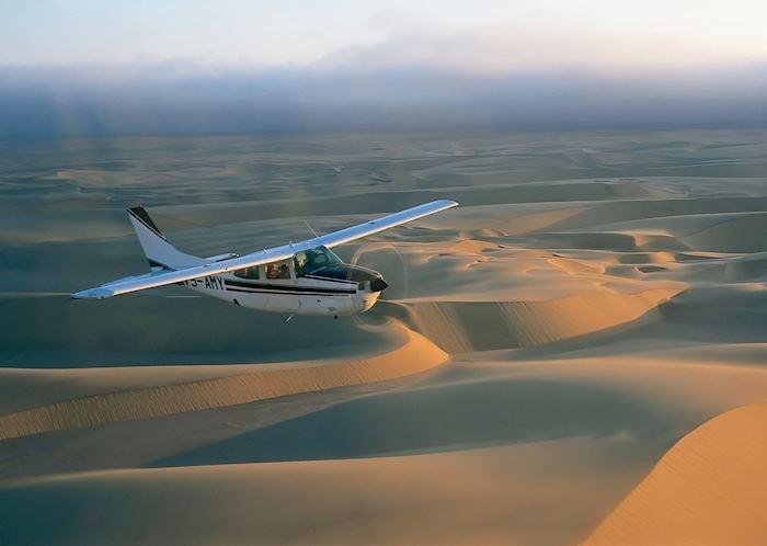 Flying over the Great Dune Sea on a Skeleton Coast Safari
