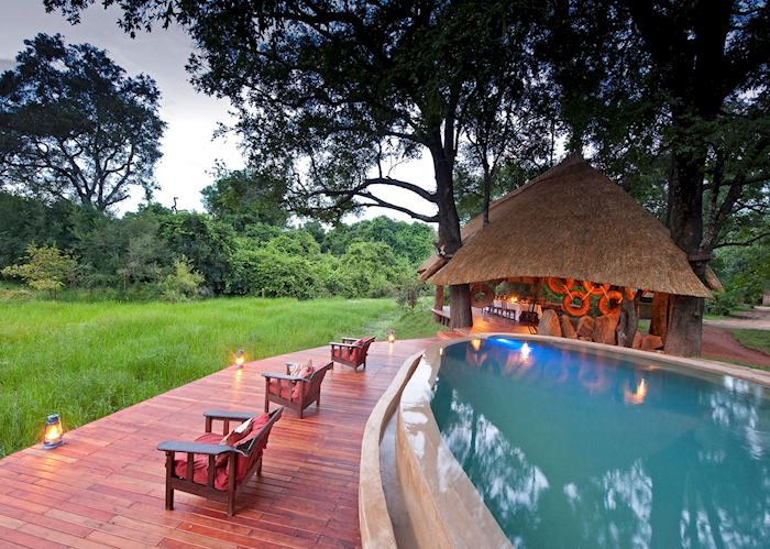 Pool and deck,Nkwali Safari Camp,South Luangwa National Park