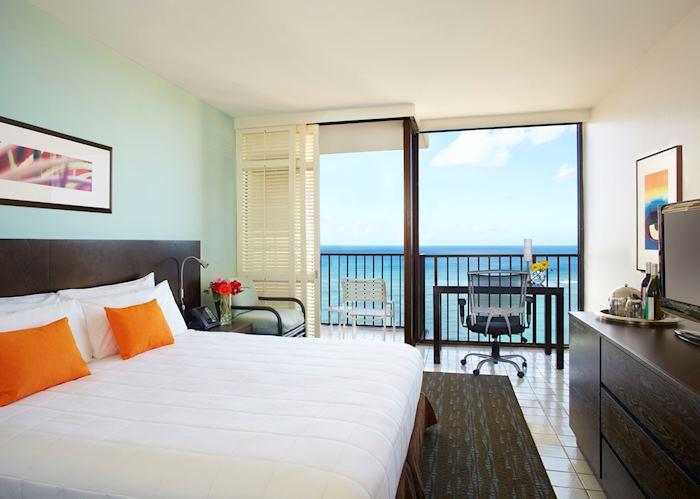 Deluxe ocean view room, Waikiki Parc Hotel, Oahu