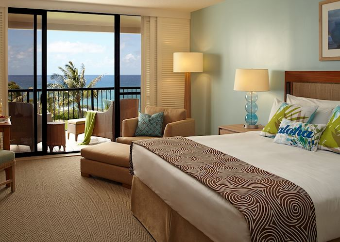 Partial ocean view room, Turtle Bay Resort, Oahu