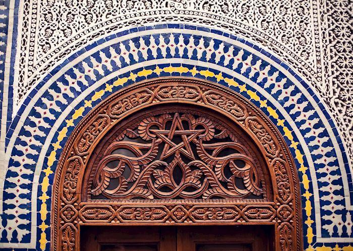 Traditional Moroccan tile work