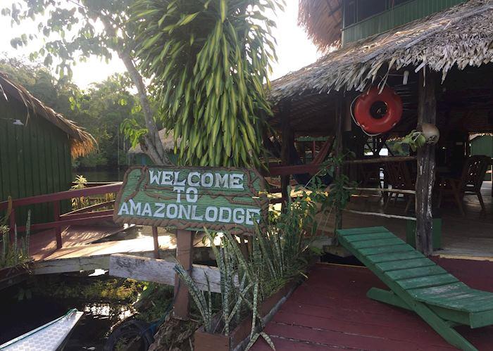 Amazon Eco Lodge entrance