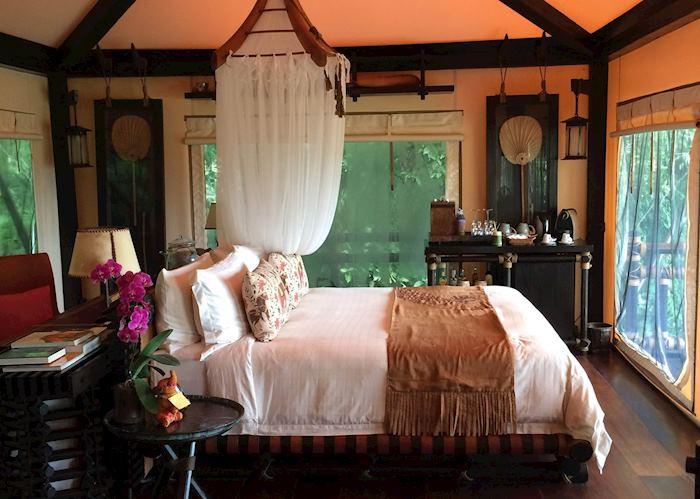 Interior of Tent, Four Seasons Tented Camp, Golden Triangle