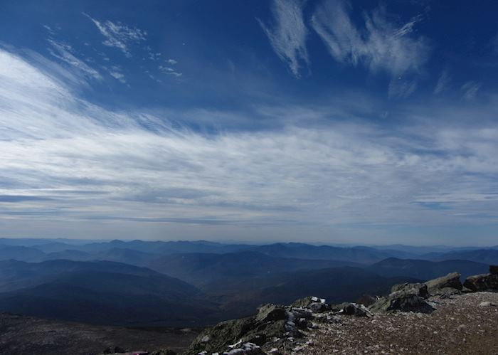 View from the top of Mount Washington