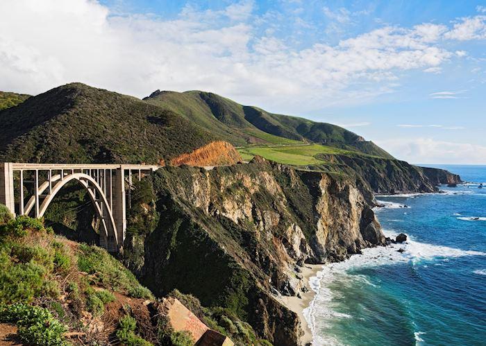 Bixby Bridge on the Pacific Coast Highway at Big Sur, California