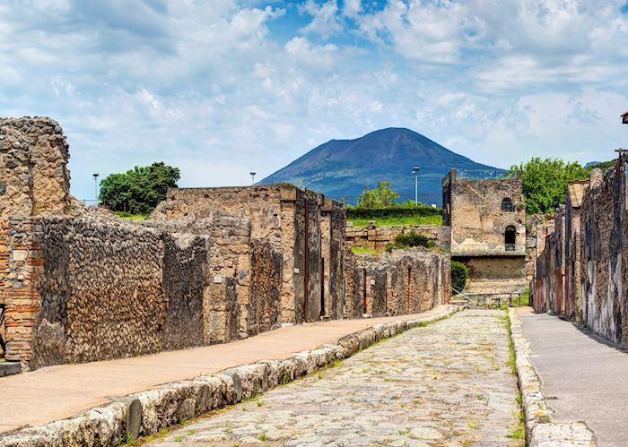 Street overlooking Vesuvius, Pompeii