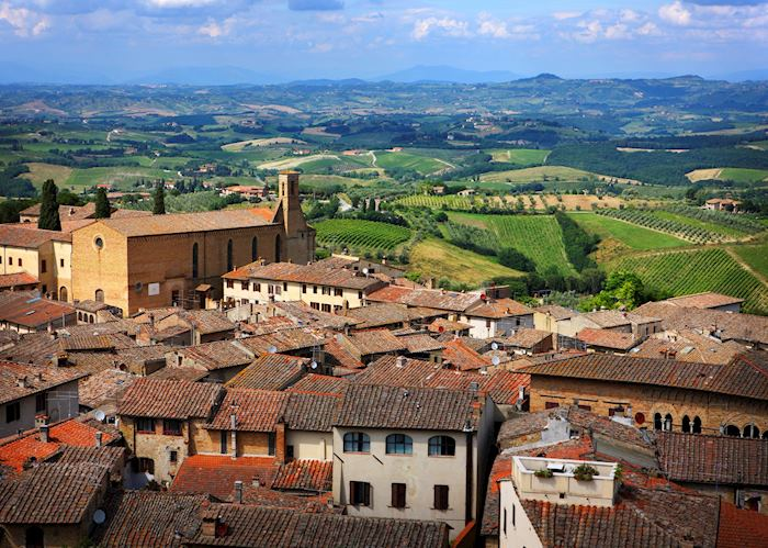 Tuscan views from San Gimignano