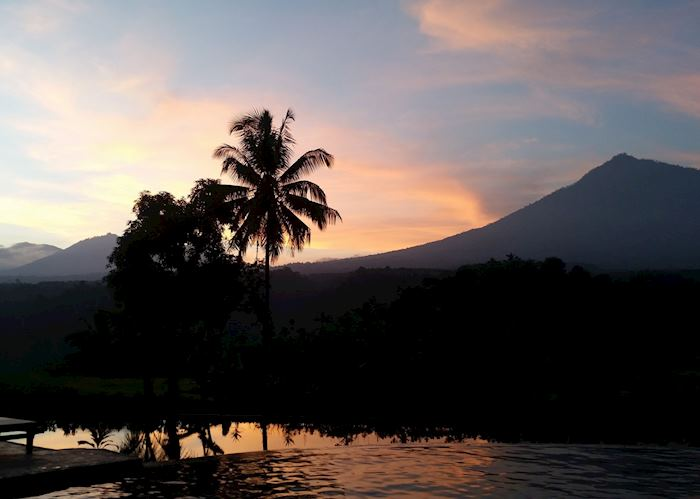 View from Ijen resort at sunset
