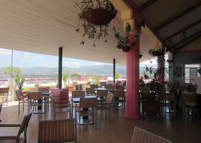 Roof terrace and bar at Hotel Casa Granda