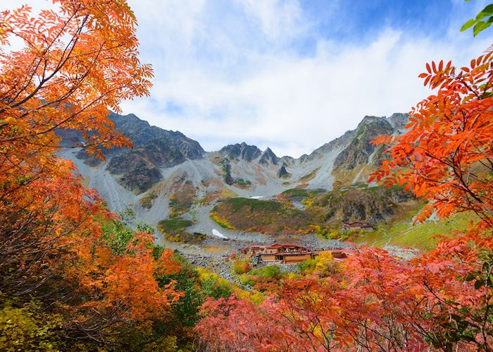 Autumnal foliage in Kamikochi National Park