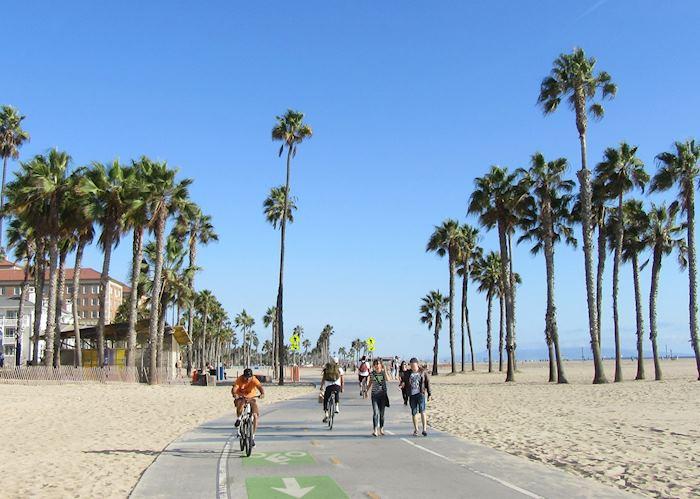 Santa Monica beach bike path, LA California