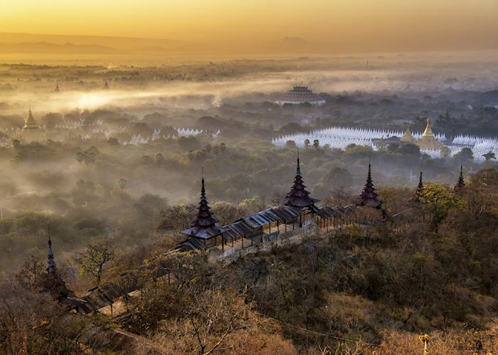 Mandalay Hill at sunrise, Mandalay