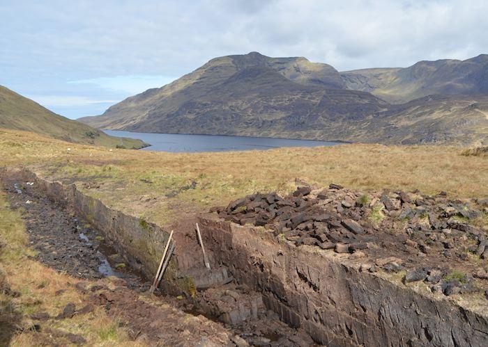 Cutting peat in Connemara