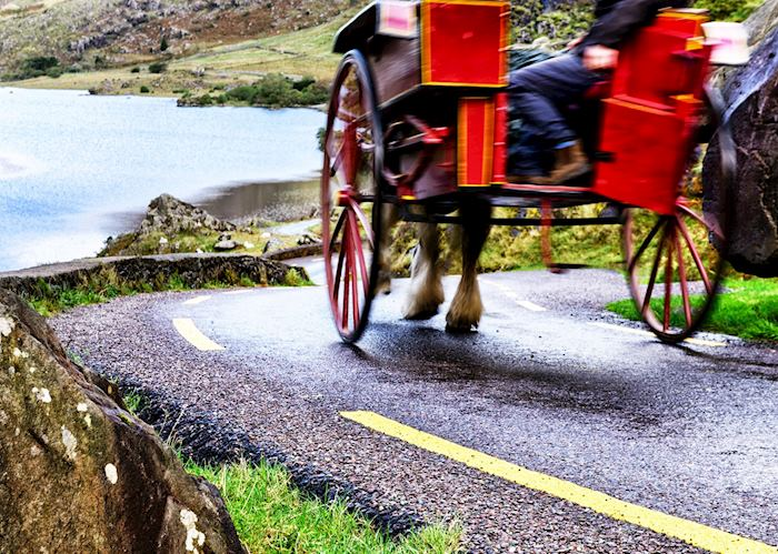 Jaunting car on Gap of Dunloe