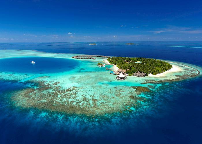 Aerial View, Baros Maldives, Maldive Island