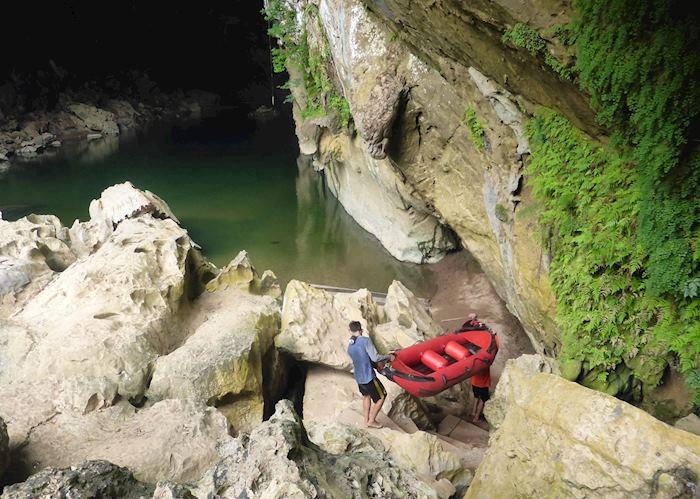 Exploring Xe Bang Fai Cave