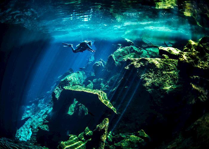 Cenotes in the Yucatan, Mexico