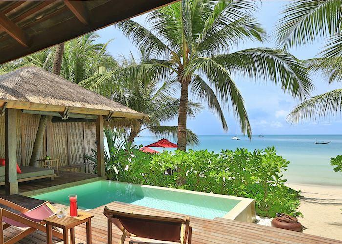 Ocean Pool Villa terrace, Anantara Rasananda Resort, Koh Phangan