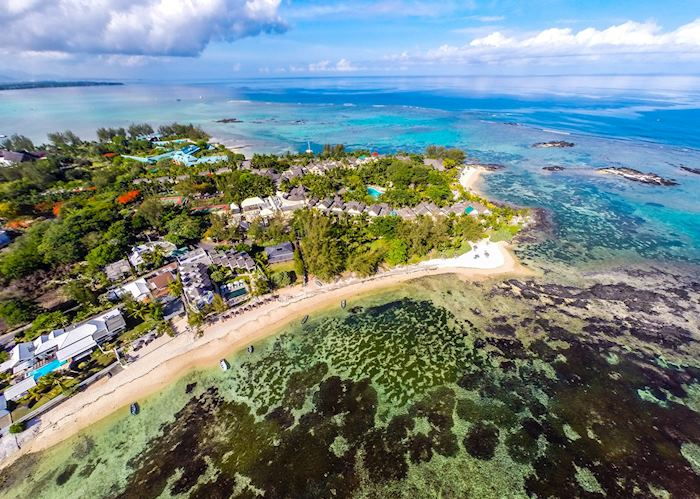 Aerial view, Seapoint Boutique Hotel, Mauritius