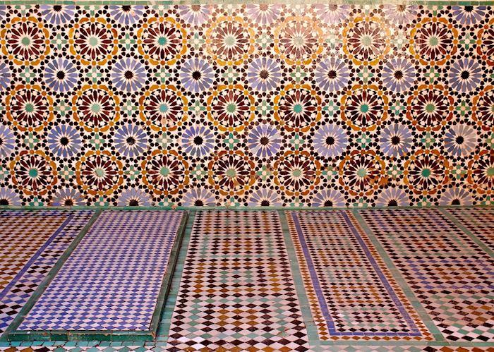 Mosaic Detail of Saadien Tomb, Marrakesh