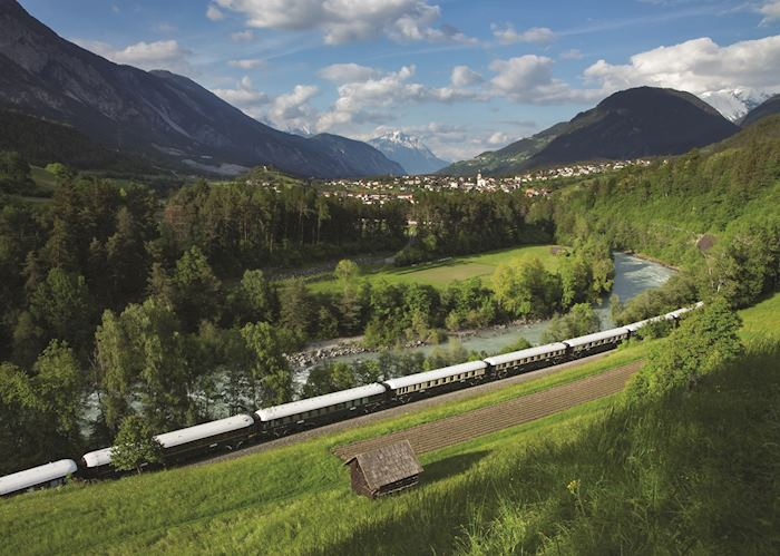 Mountain scenery, Venice Simplon Orient-Express