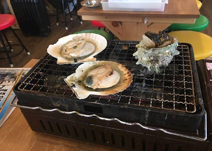 Fresh seafood in Fukuoka