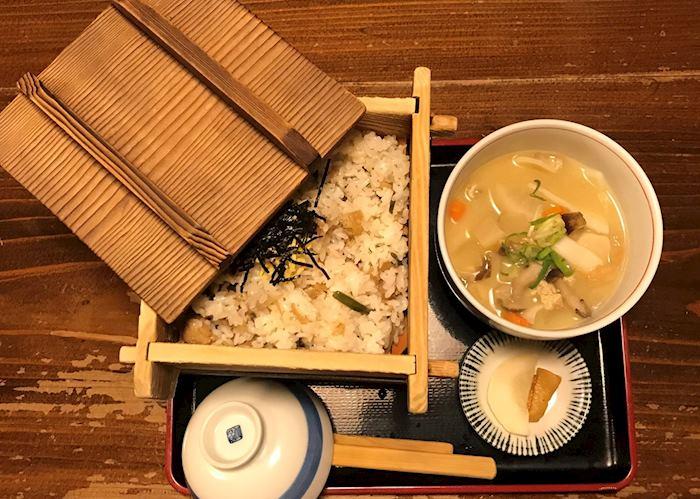 'Dago Jiro' dumpling soup in Kurokawa Onsen