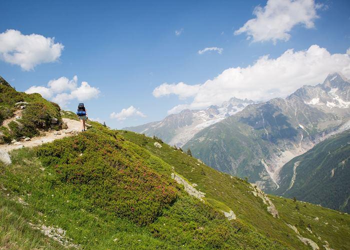 Chamonix hiking trail, France