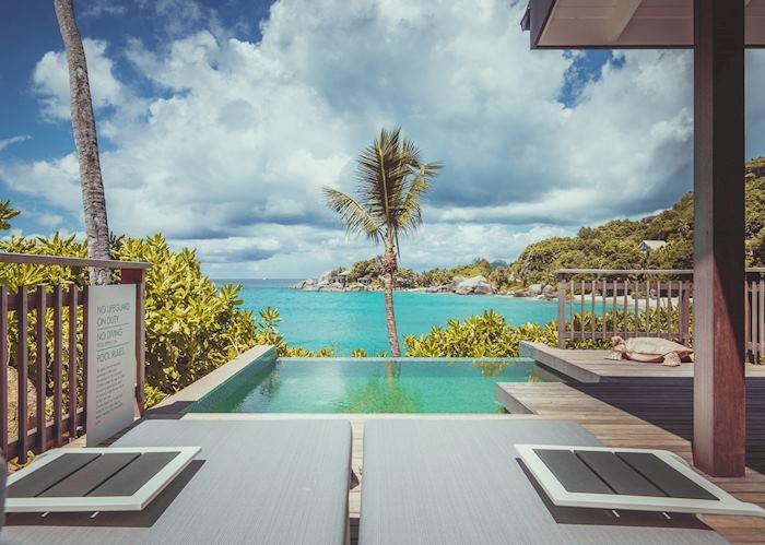 Ocean view pool chalet, CaranaBeach Hotel, Mahe