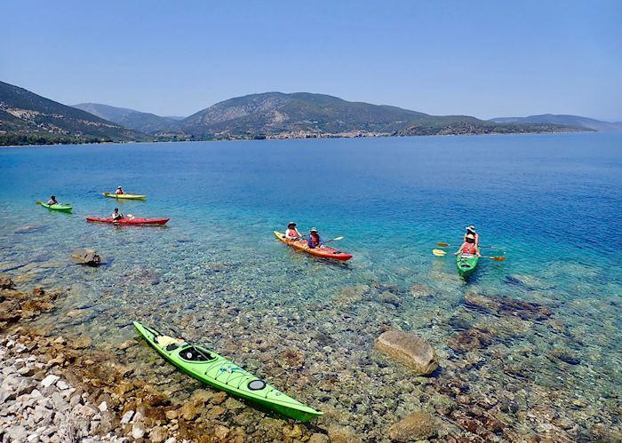 Sunken ruins kayaking adventure, Epidavros
