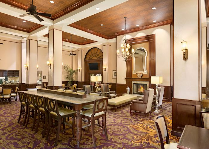 Dining area at Homewood Suites Lafayette