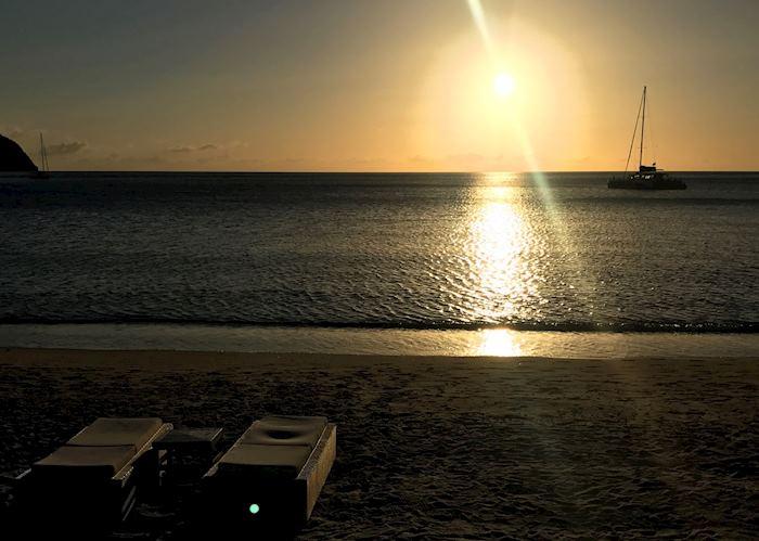 Sunset in Saint Lucia