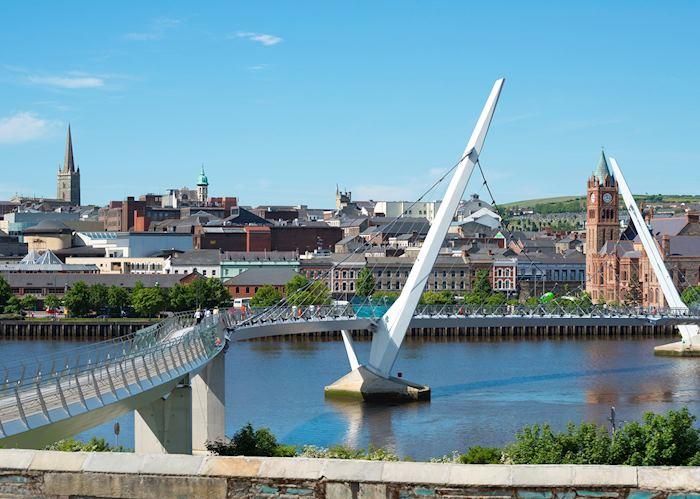 Peace Bridge over River Foyle