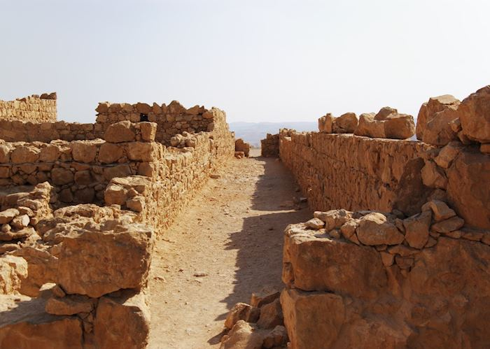 Ruined street at Masada