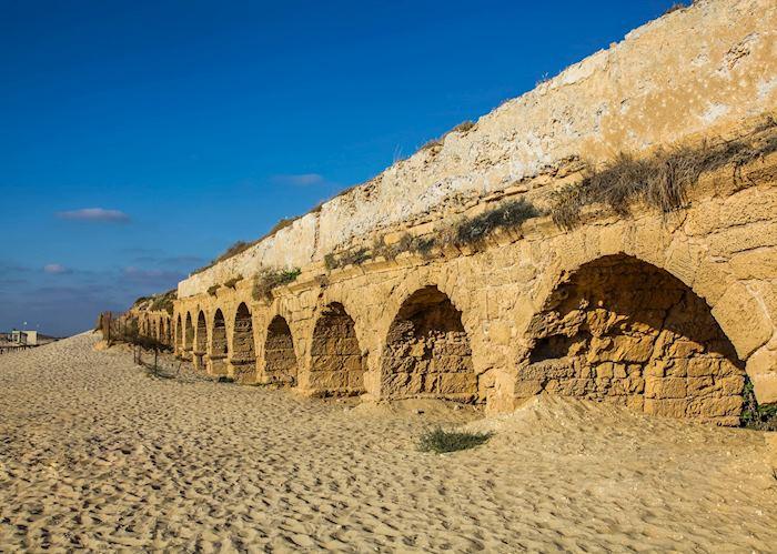 Ancient aqueduct at Caesarea