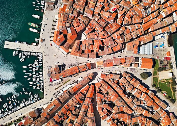 Aerial view of Rovinj, Istria