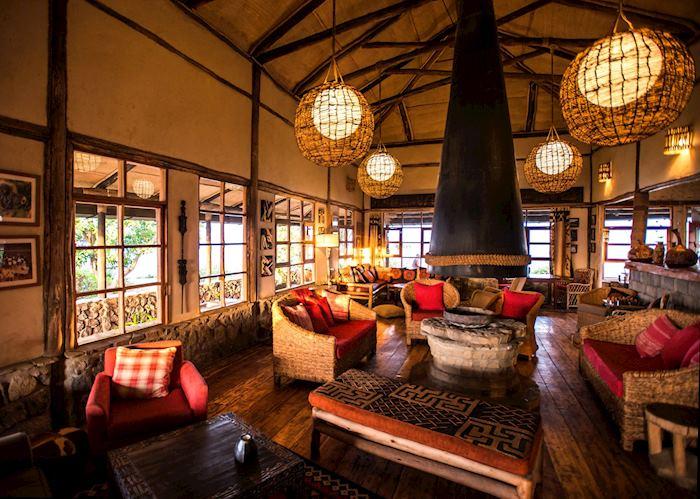 Main area at Virunga Lodge