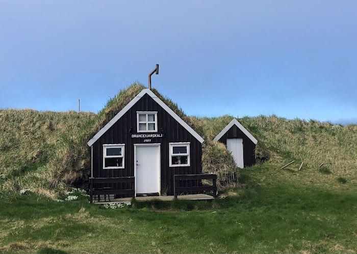 Turf house on Drangey Island