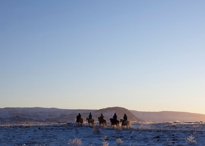 Horse riders in Iceland
