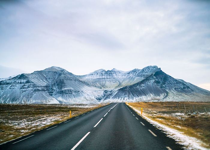 Driving in south east Iceland
