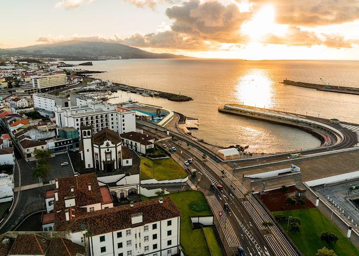 Aerial view Ponta Delgada, São Miguel
