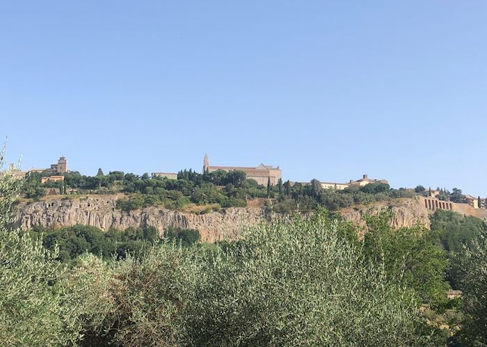 Views to Orvieto, e-bike tour