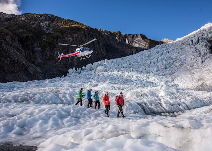 Glacier landing with Helicopter Line