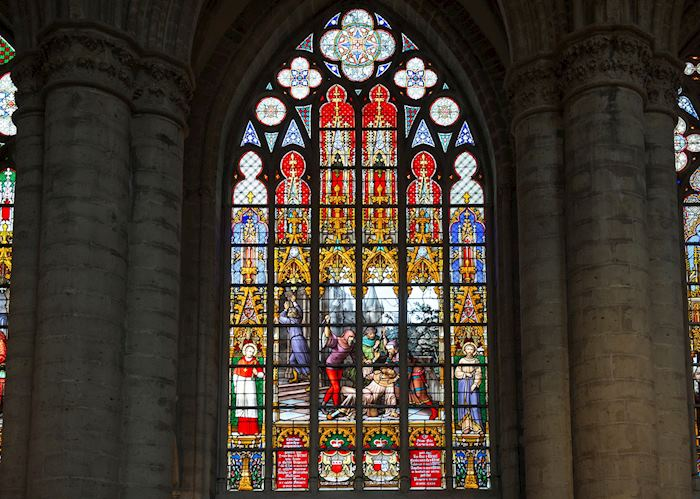 Stained glass windows of Brussels Basilica