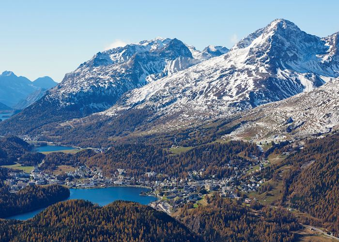 Upper Engadin Valley view of St. Moritz