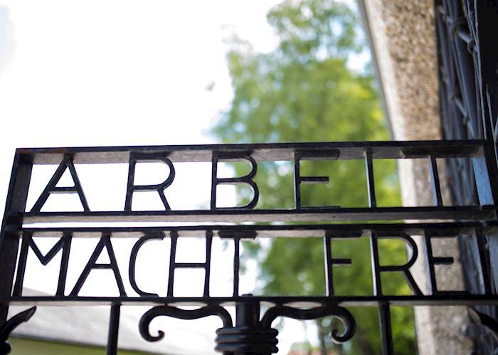 Dachau Arbeit Macht Frei sign