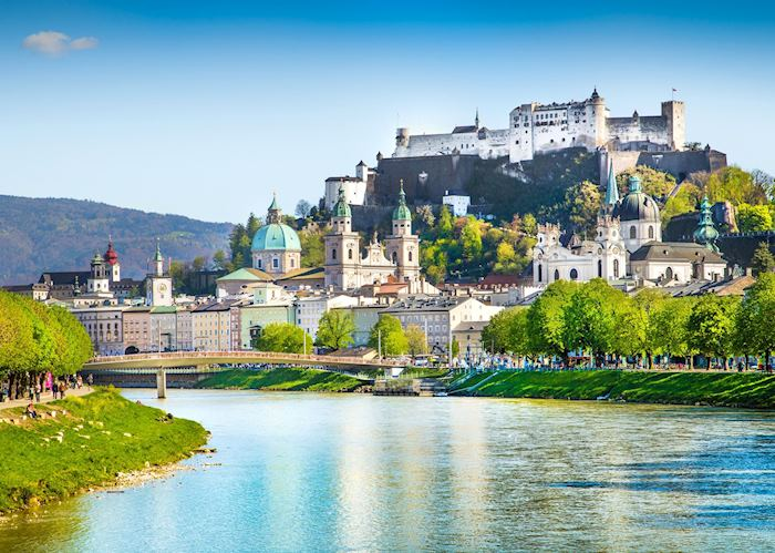 Salzburg perched on the Salzach River