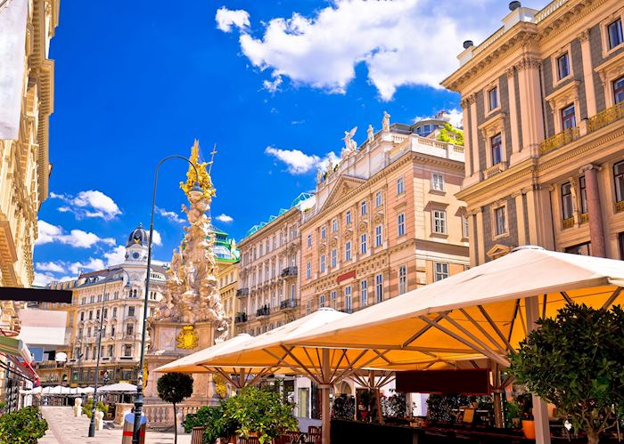 Cafe lined streets, Vienna