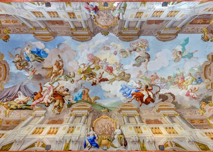 Paul Troger mural on the ceiling of Melk Abbey
